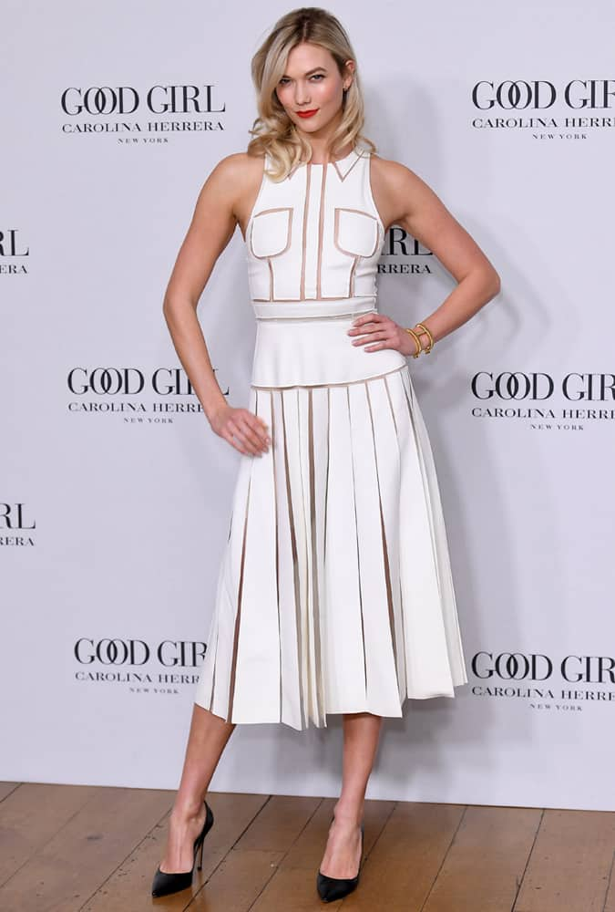 Karlie Kloss At The Launch Of Carolina HerreraGood Girl Fragrance