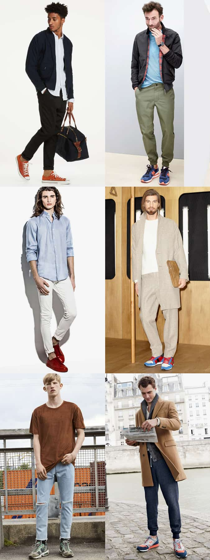 60594cfc2ef The right trousers and jeans to wear with bold colourful sneakers