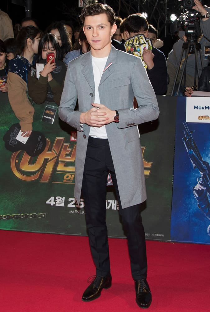 Tom Holland at Avengers Infinity War Film Premiere