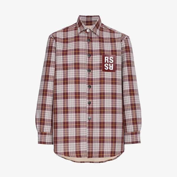Raf Simons Check Denim Shirt