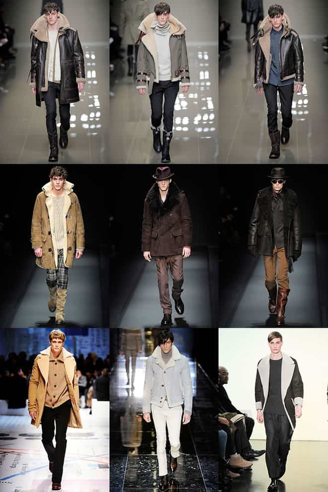 Shearling Trend on the Men's Catwalks A/W10