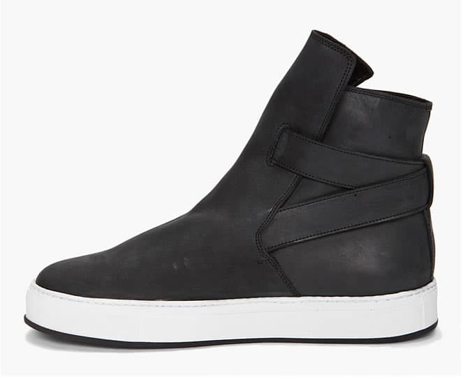 Kris Van Assche Jodhpur Sneakers Black side view