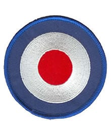 Scooter Boy Ska MOD TARGET Punk Woven Iron-On Patch