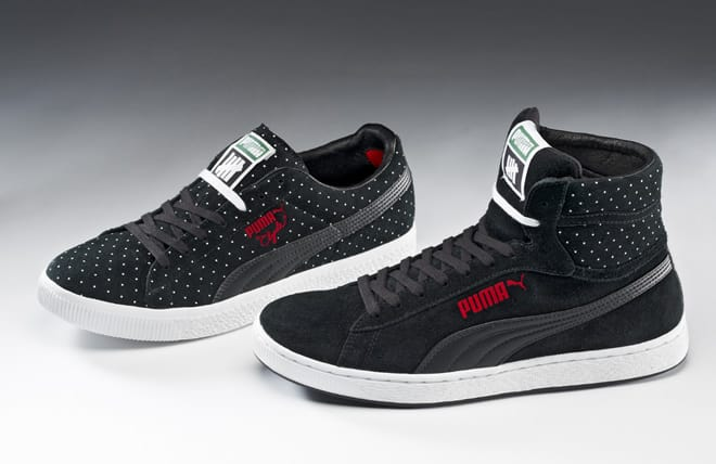 PUMA x UNDFTD Microdot Collection black collection