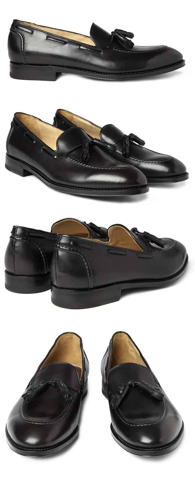 Paul Smith Black Tasseled Leather Loafers