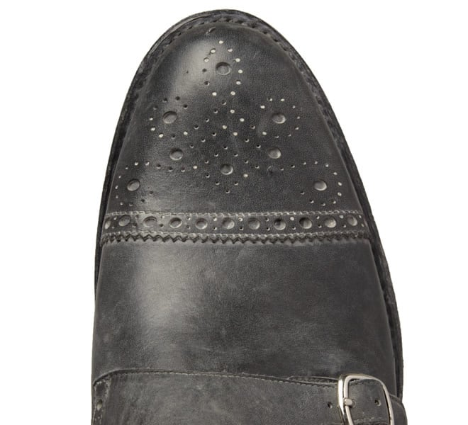 O'Keeffe Washed Double Monk-Strap Brogues
