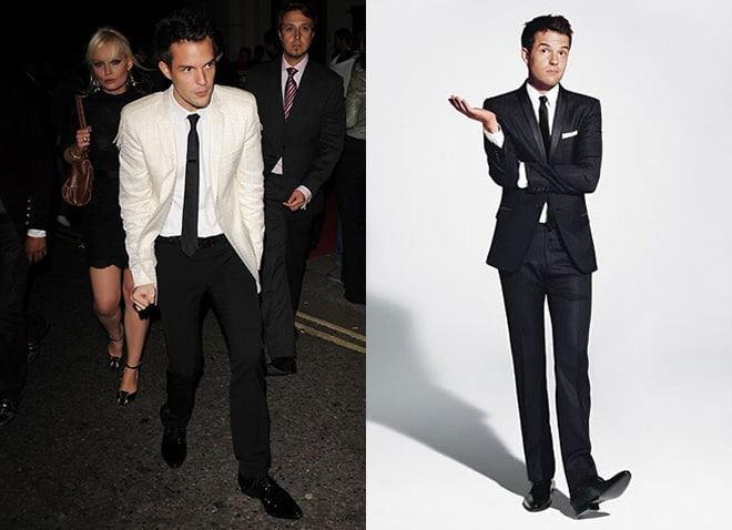Brandon Flowers in Traditional Suits