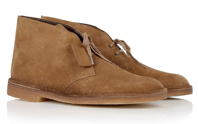 Clarks Originals Cola Brown Suede Desert Boots
