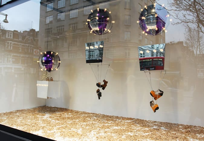 Selfridges Shoe Carnival windows