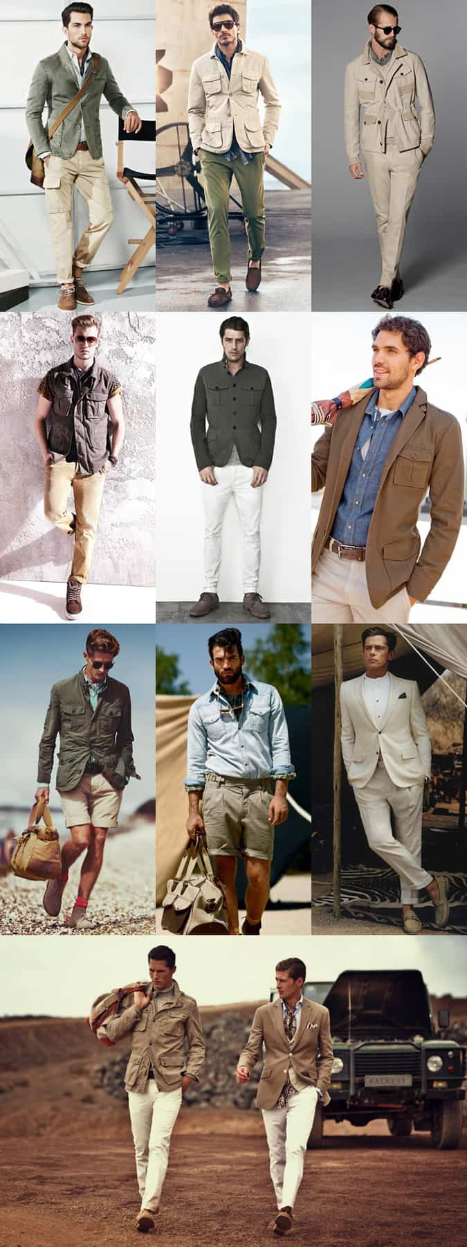 Men's Safari Trend Lookbook