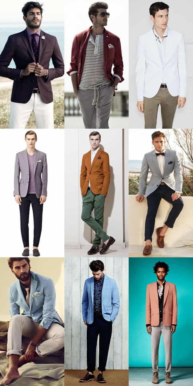 Men's Statement Colours - Outfit Inspiration