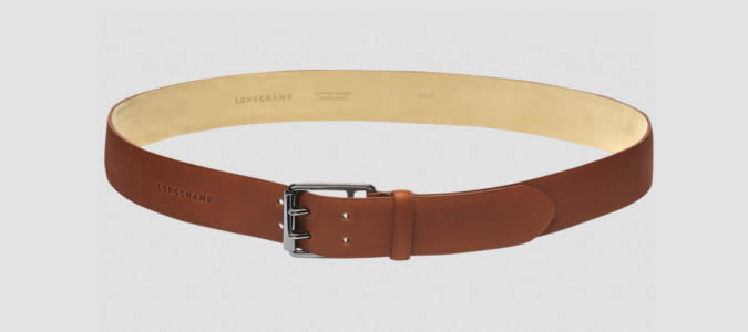 Longchamp 3D Adjustable belt tan