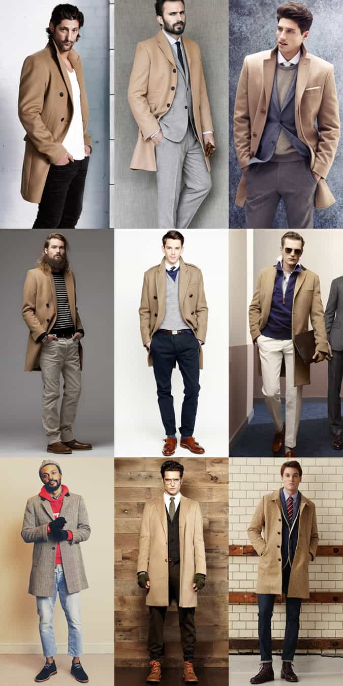 Men's Beige Overcoat Autumn/Winter Lookbook