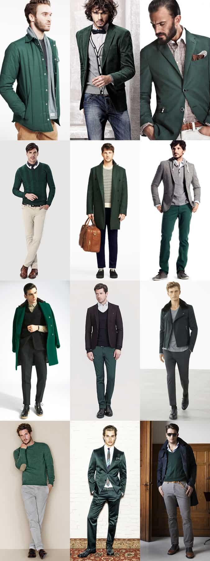 Mens Aw13 Key Colour Trend Emerald Green Fashionbeans