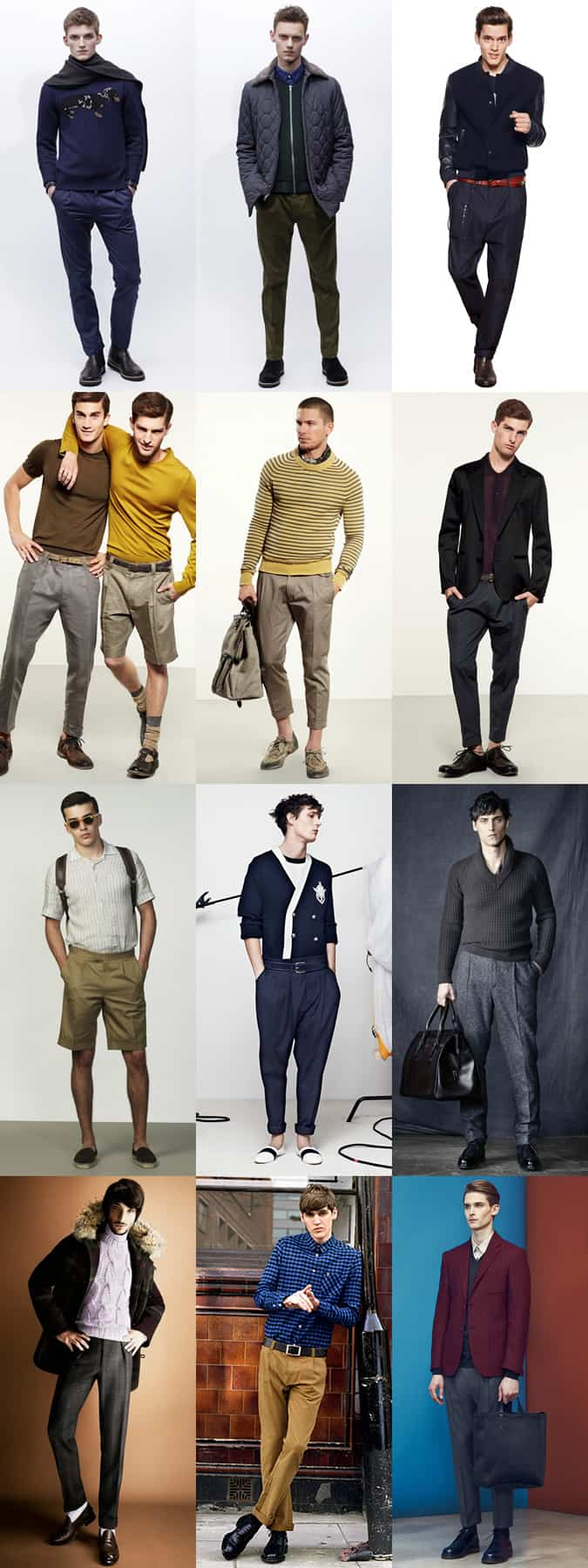 Men's Modern Pleated Trousers Lookbook
