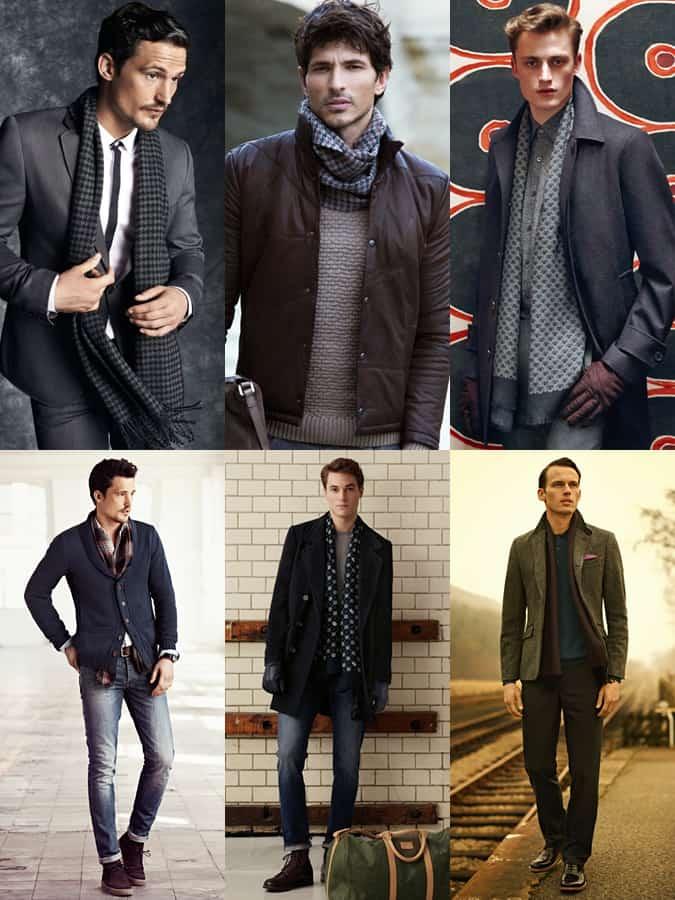 Men's Lightweight Scarf Lookbook