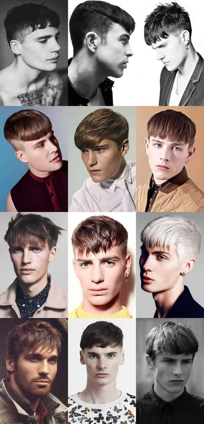 Men's 2014 Fringe Hairstyle Examples