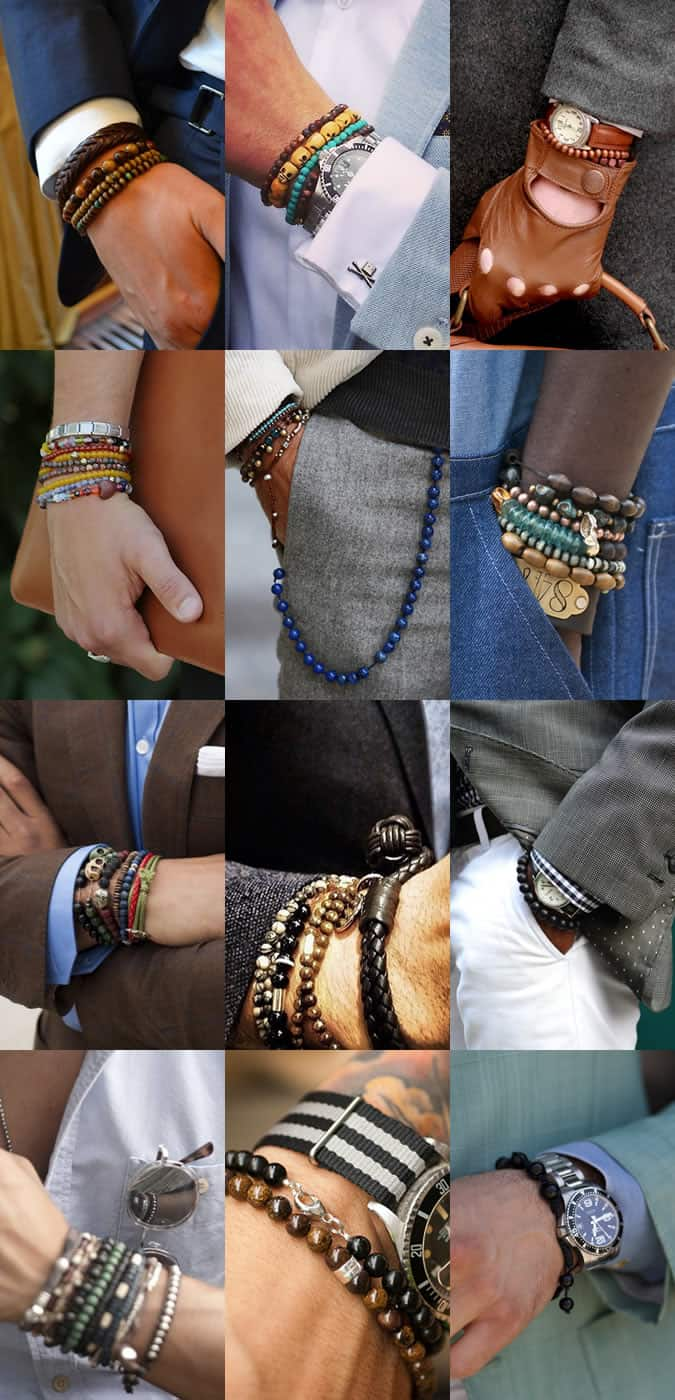 Men S Beaded Bracelets Lookbook