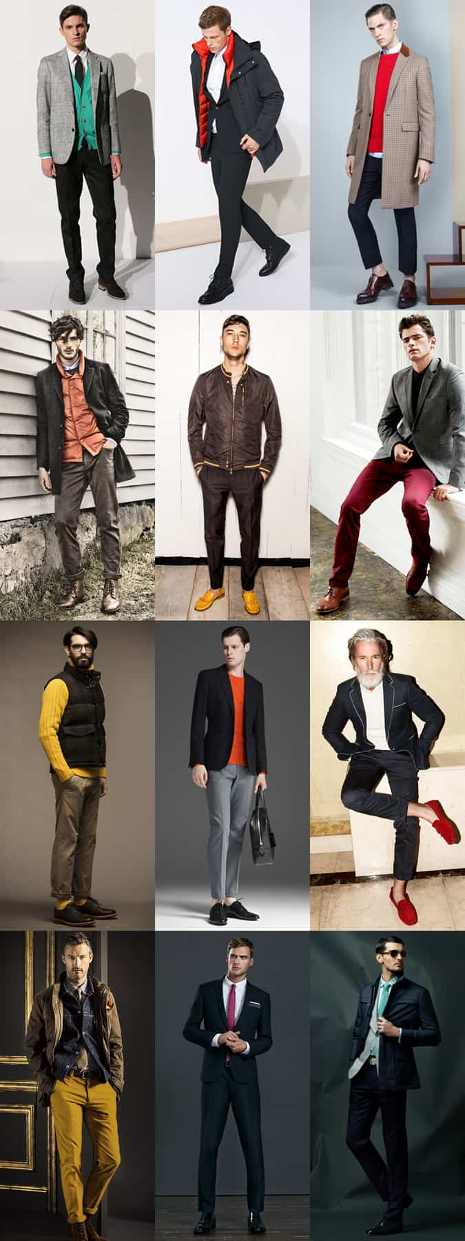 Men's Outfit Inspiration - Using a Pop Of Colour As A Statement