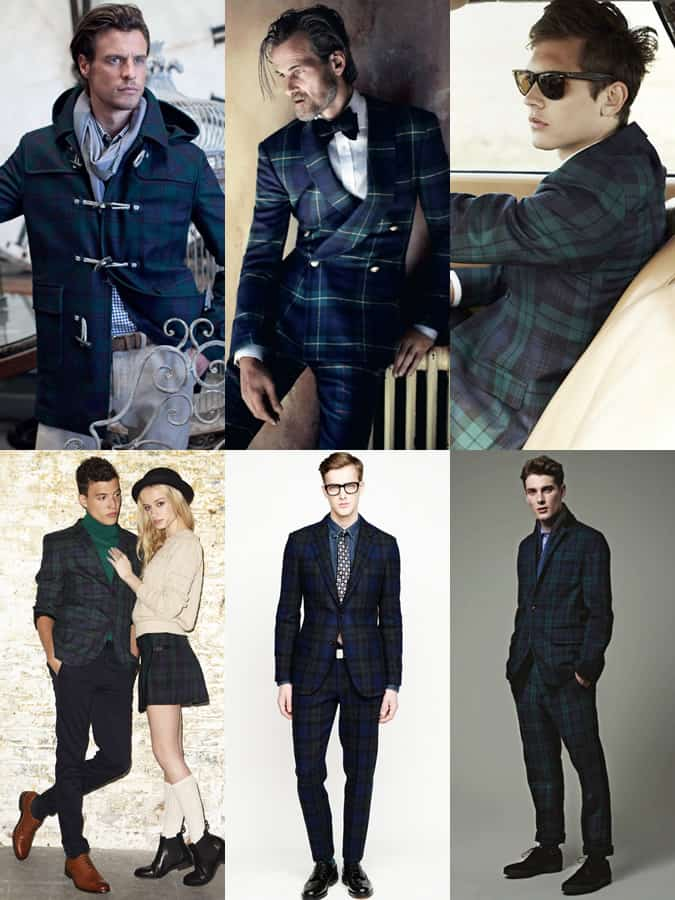 Men's Blackwatch Plaid/Tartan Lookbook Inspiration