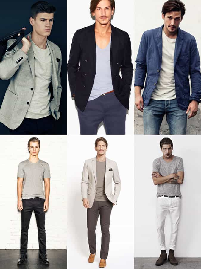 Men's Basic T-Shirts Lookbook Outfit Inspiration