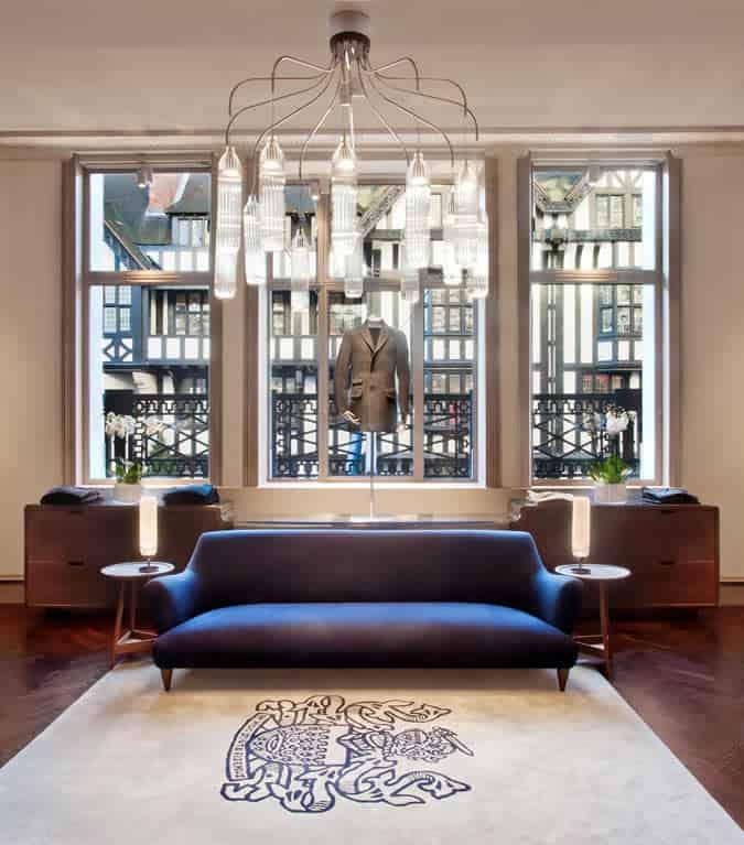 Aquascutum New Great Marlborough Street Store - Internal