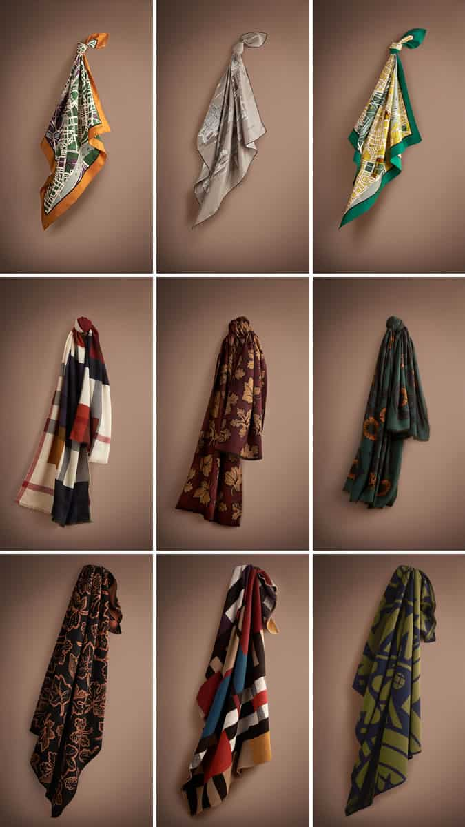 Key Scarves from the AW14 Burberry Prorsum Collection