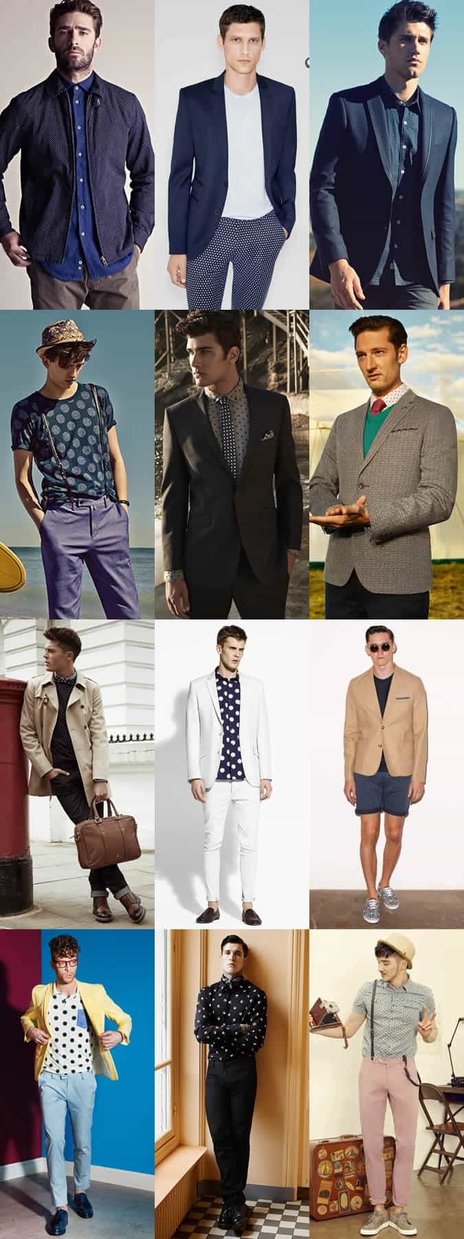 Men's Polka Dot Outfit Inspiration Lookbook