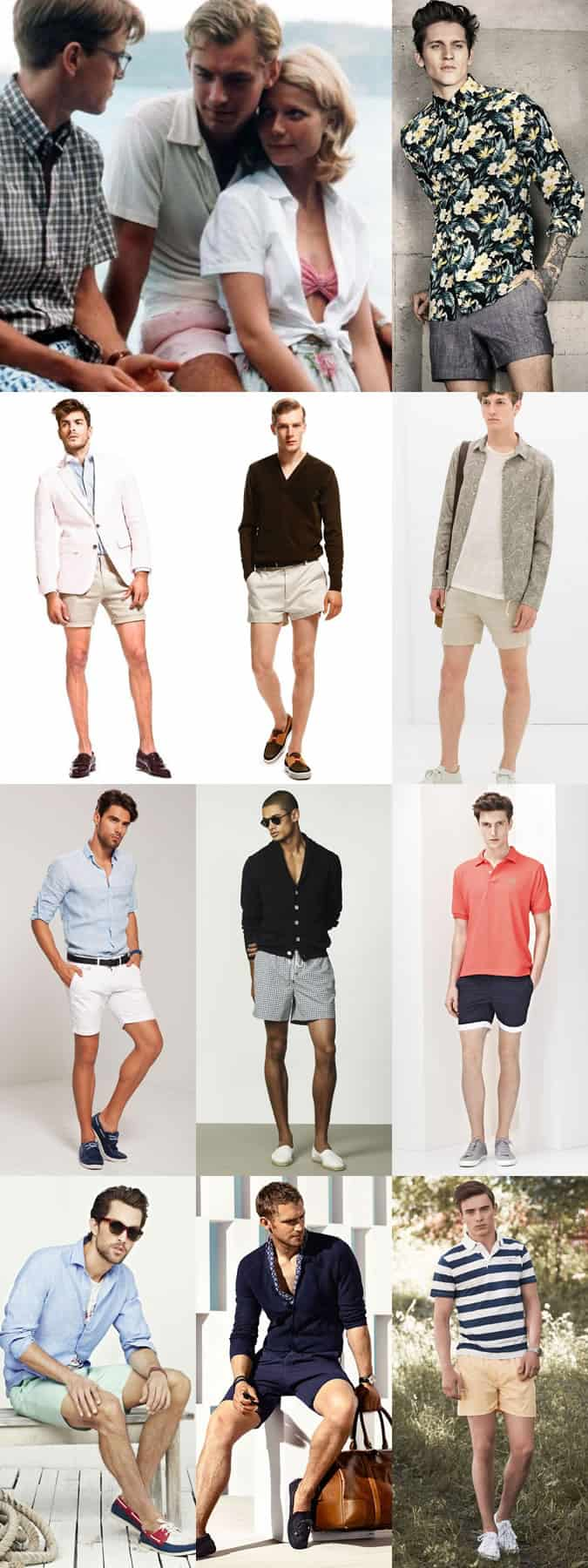 Men's Fifties-Inspired Short Shorts Outfit Inspiration Lookbook