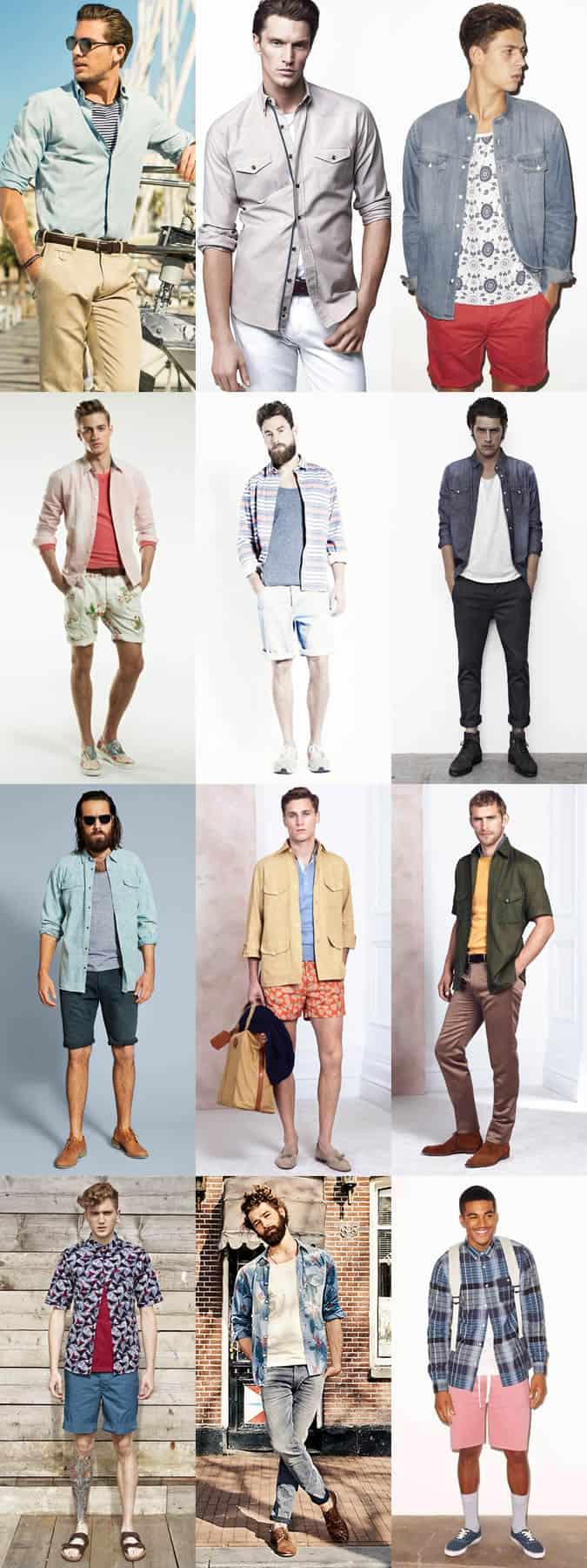 Men's Summer Shirt Layering - Outfit Inspiration Lookbook