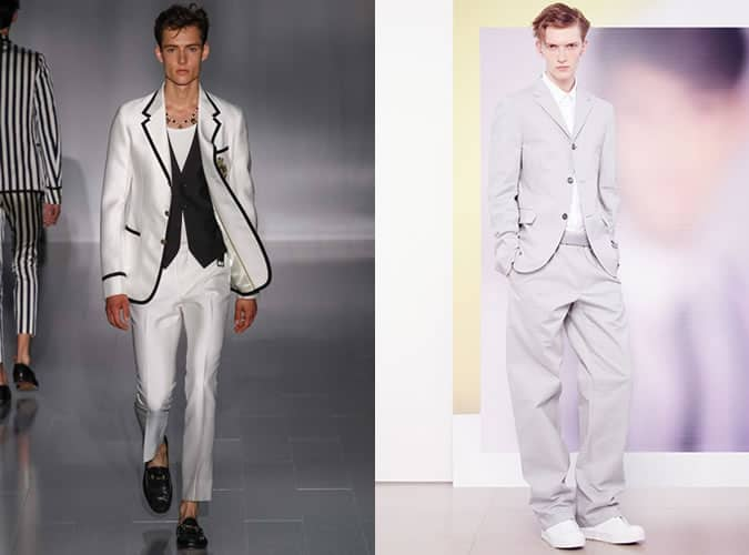 Unconventional Notch Lapels On SS15 Runways