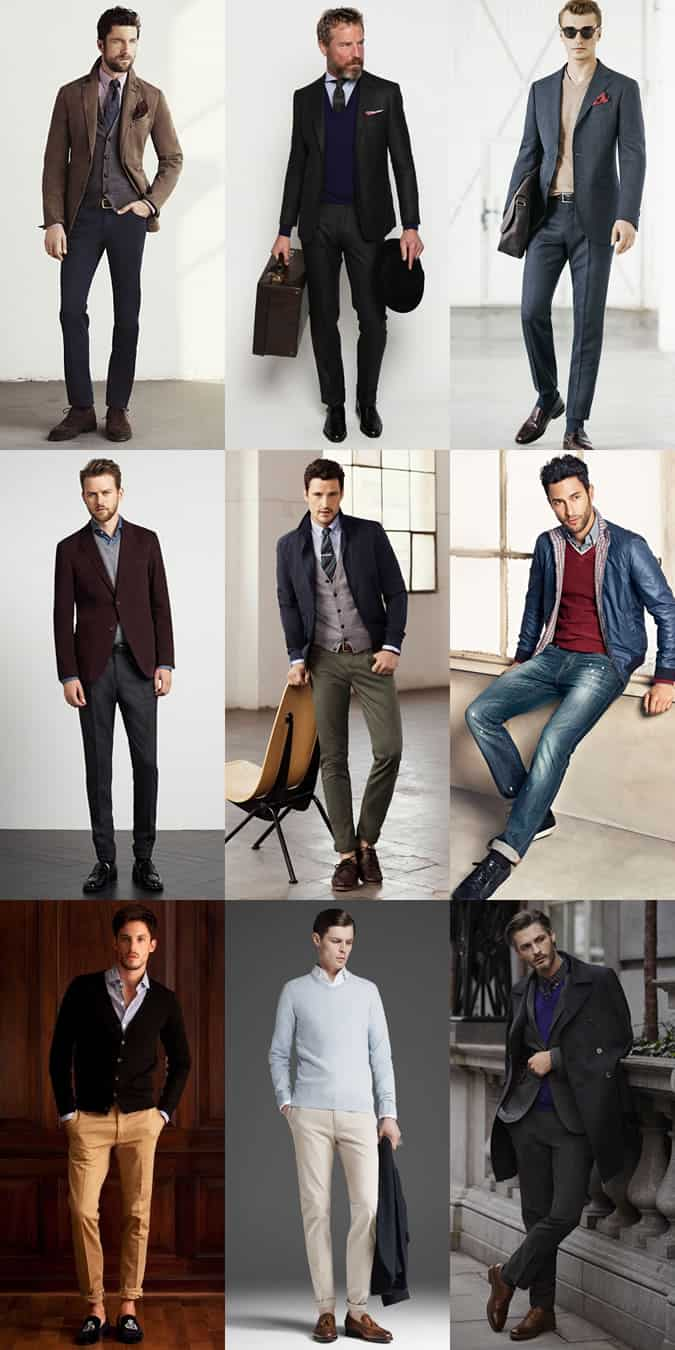 Men's Transitional Knitwear - Lightweight Merino Wool or Cotton Styles - Outfit Inspiration Lookbook