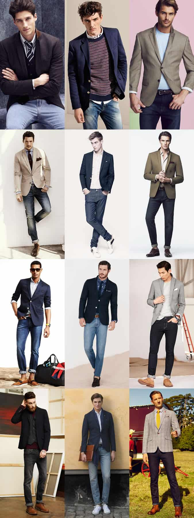 Men's Jeans With Blazers Outfit Inspiration Lookbook