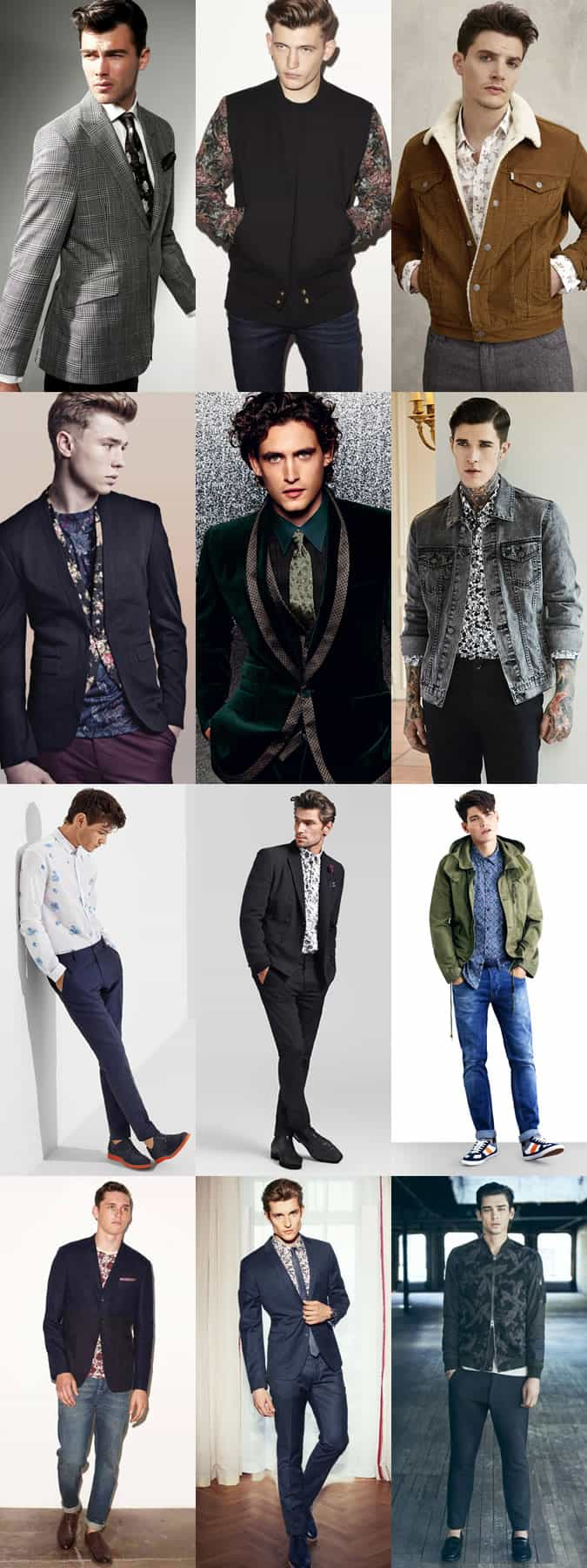 Men's Autumn/Winter Floral Print - Subtle Outfit Inspiration Lookbook
