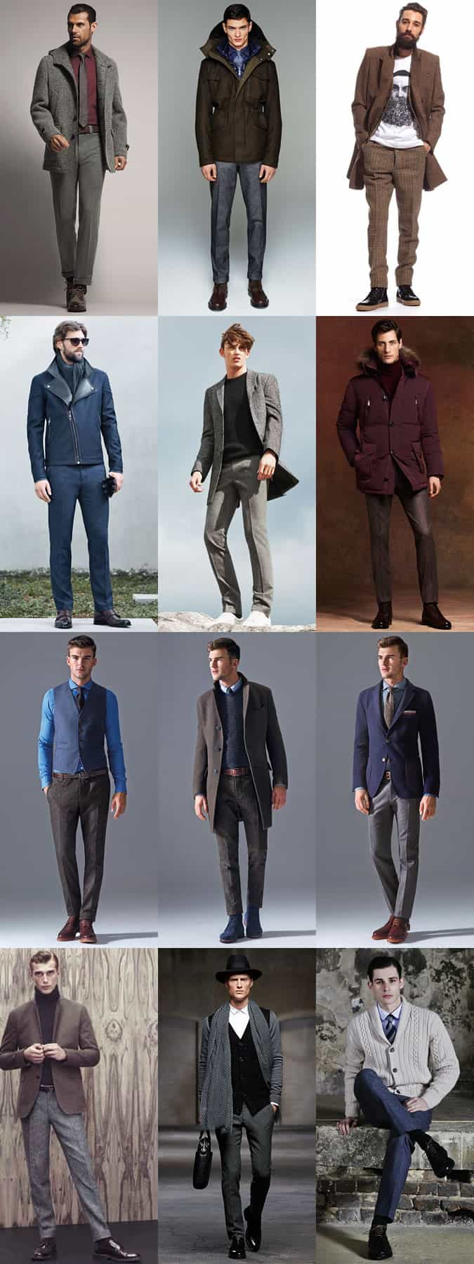 Men's Tweed Trousers Autumn/Winter Outfit Inspiration Lookbook