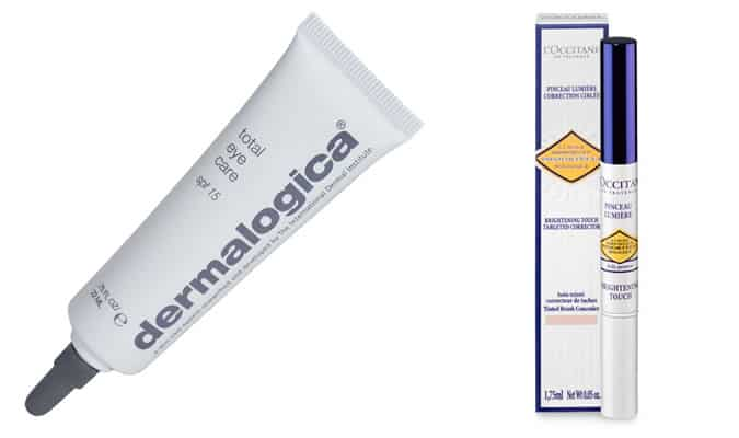 Dermalogica's Total Eye Care & L'Occitane Brightening Touch