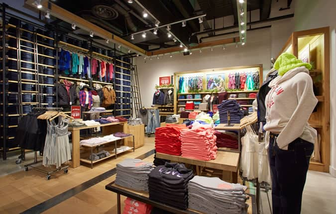 American Eagle Outfitters First UK Store