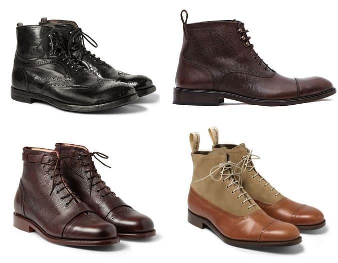 Men's Oxford-Style Boots