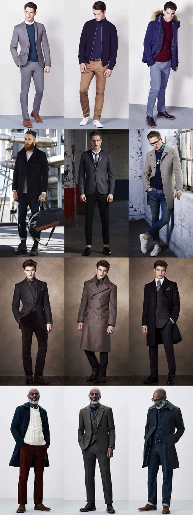 Men's British High Street Retailers AW14 Menswear Lookbook - New Look, Burton, M&S and John Lewis