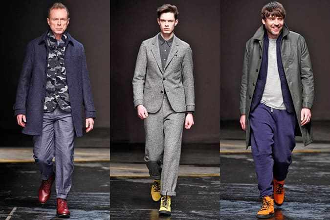 Oliver Spencer AW14 Men's Coloured Footwear - On The Runways