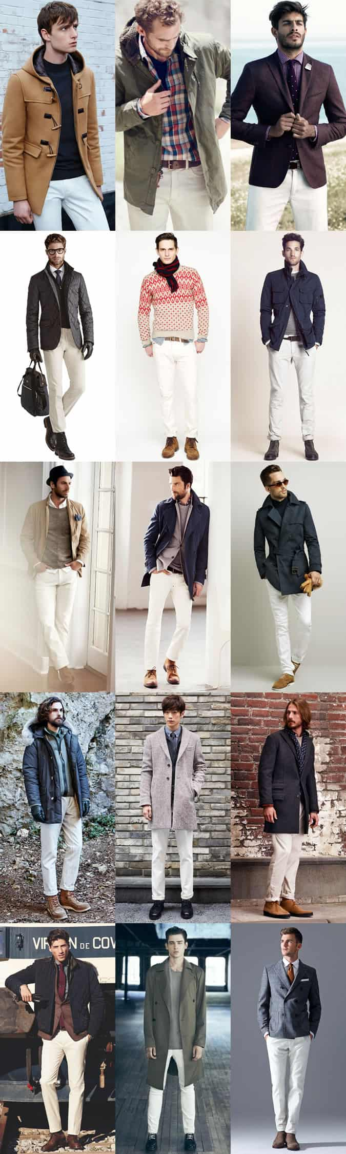 White Denim Jeans For Men