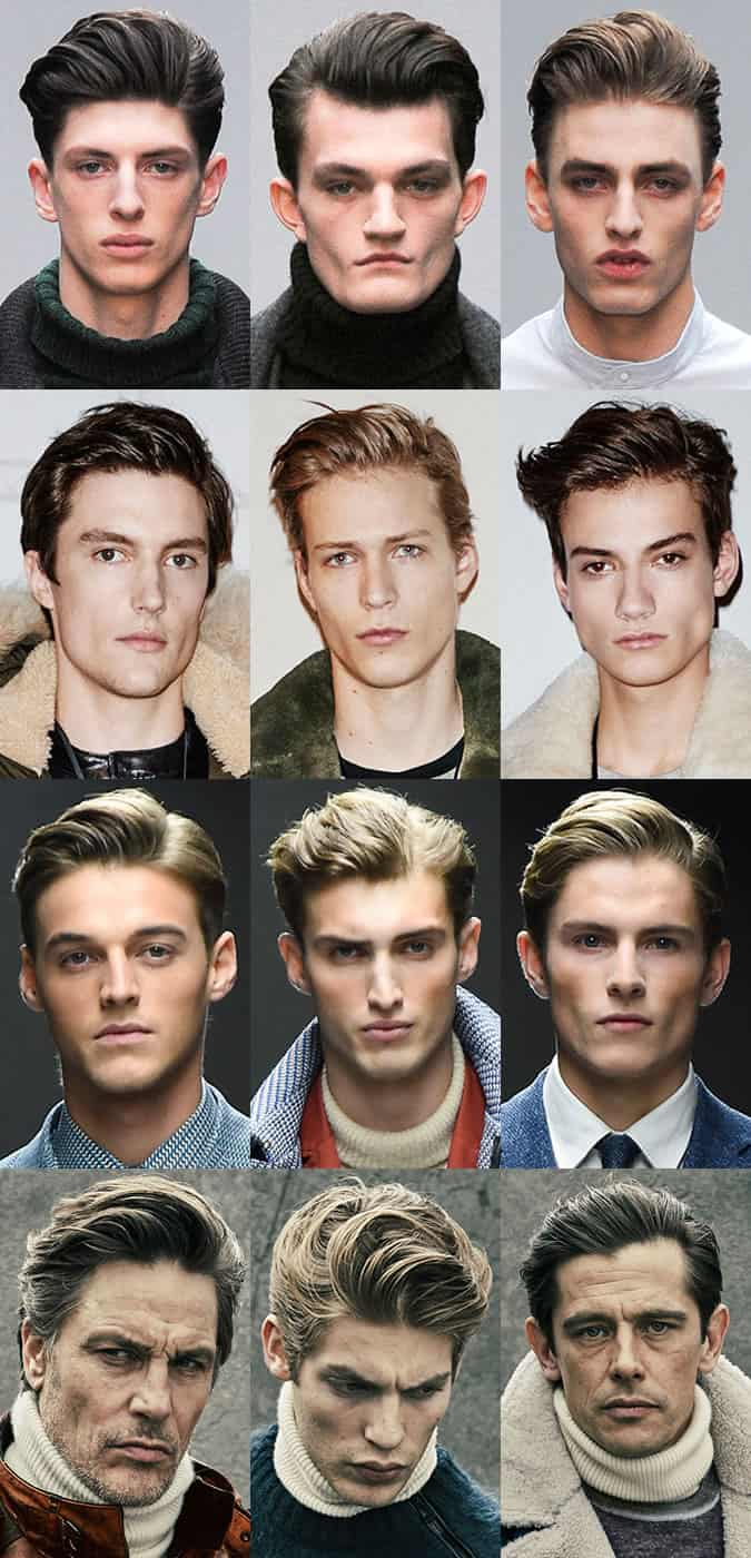 Men's Quiffs On The London Collections: Men Runways