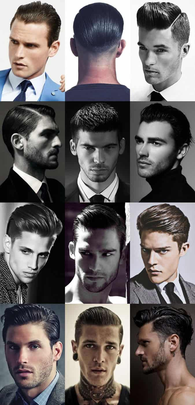 Men's High Shine, Slick and Wet Look Hairstyles