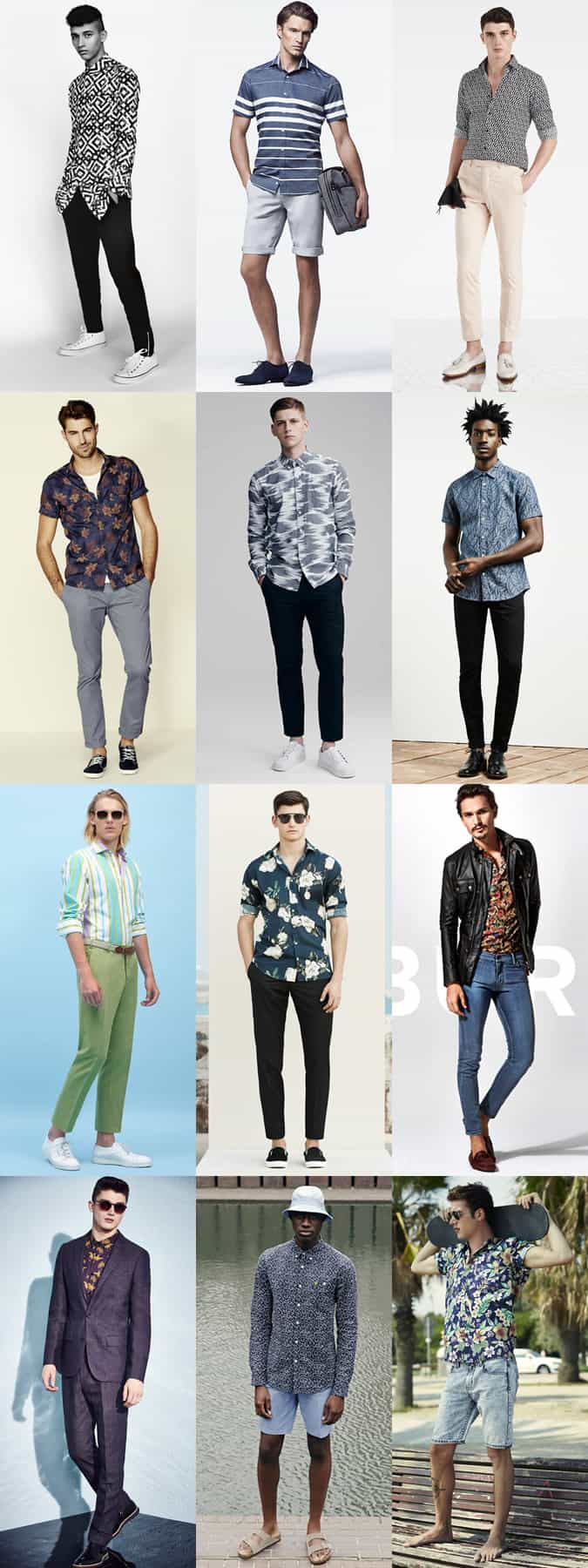 Men's Printed Shirts - Spring/Summer Outfit Inspiration Lookbook