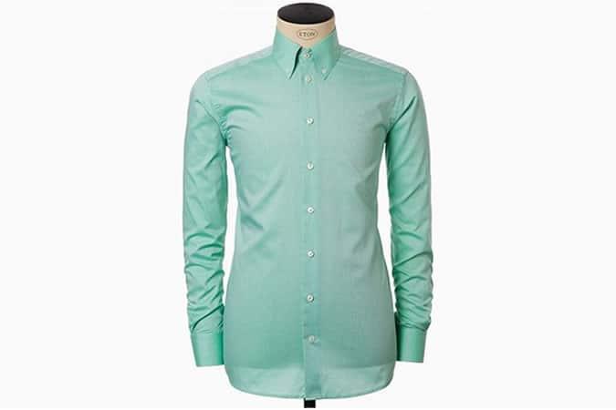 Eton Green Button Down Shirt
