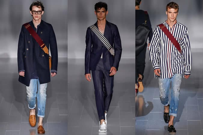 Denim On The SS15 Menswear Runway At Gucci