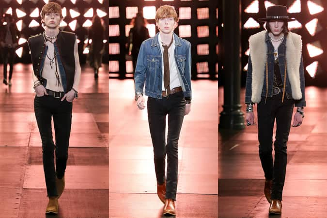 Denim On The SS15 Menswear Runway At Saint Laurent