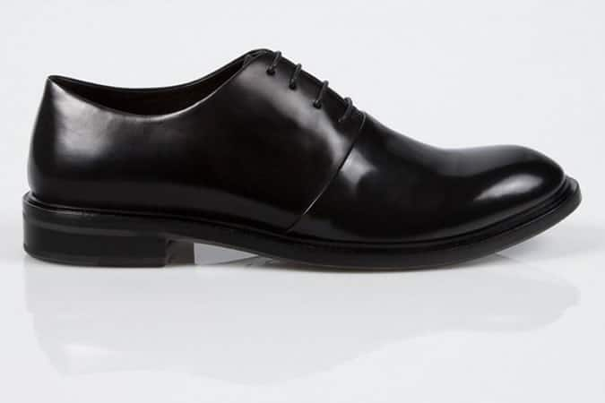 Paul Smith Black Leather Isaac Oxford Shoes With Pot Plant Sole