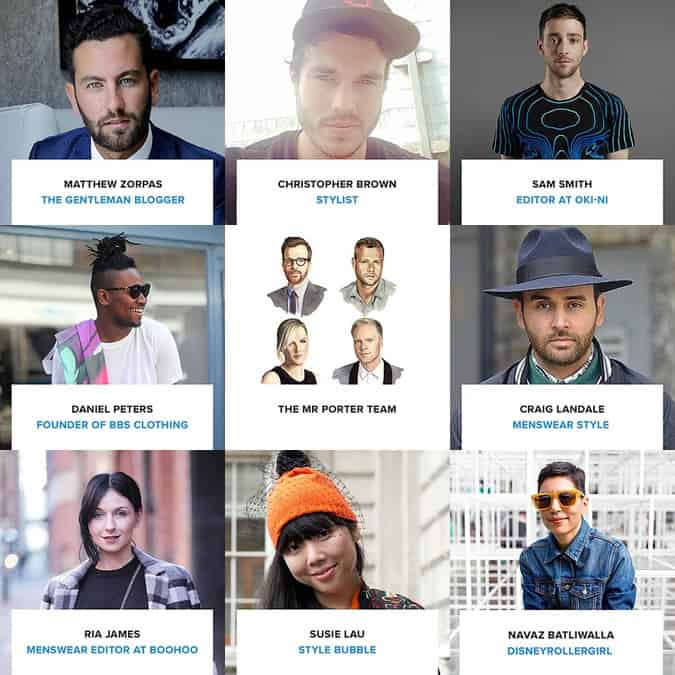 Some of the contributors on the Shopstyle x American Express Inspiration Hub