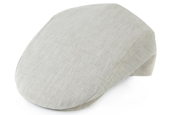 Marks and Spencer Pure Linen Checked Flat Cap